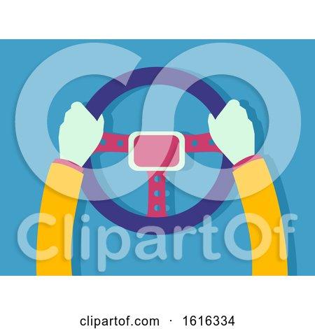 Hands Steering Wheel Driver Illustration by BNP Design Studio