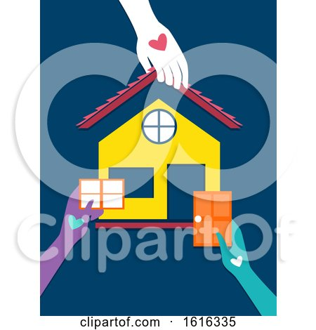 Hands Volunteer Housing Program Illustration by BNP Design Studio