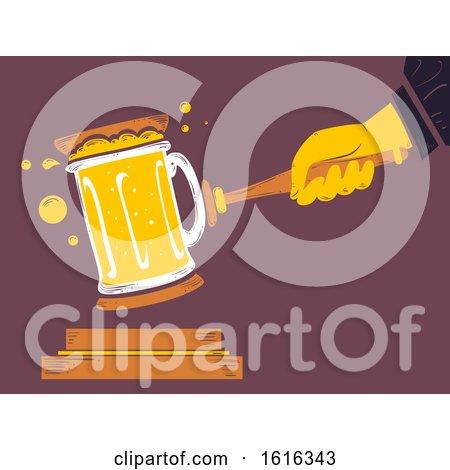 Hand Beer Mug Alcohol Law Illustration by BNP Design Studio