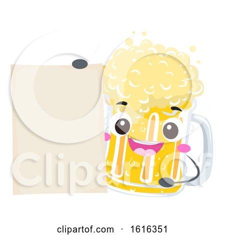 Mascot Beer Mug Board Illustration by BNP Design Studio