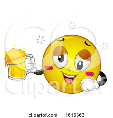 Smiley Drunk Illustration by BNP Design Studio