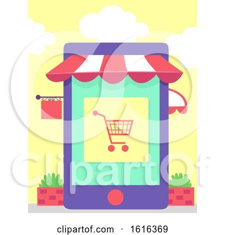 Cellphone Apps Store Illustration by BNP Design Studio