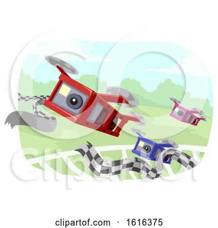 Drone Race Illustration by BNP Design Studio