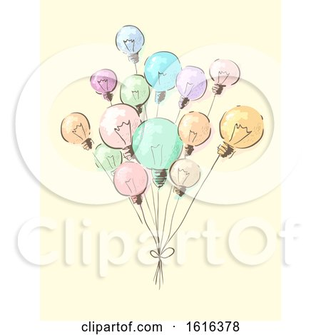 Light Bulbs Balloons Concept Illustration by BNP Design Studio