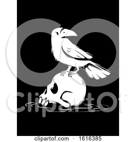 Death Skull Crow Illustration by BNP Design Studio