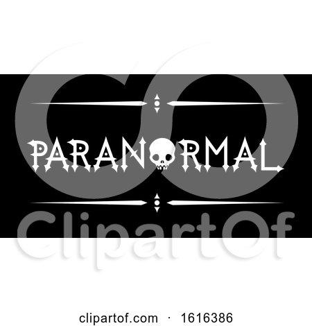 Paranormal Skull Lettering Illustration by BNP Design Studio