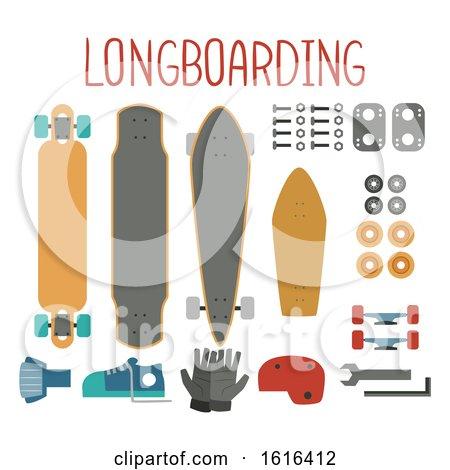 Longboard Elements Illustration by BNP Design Studio