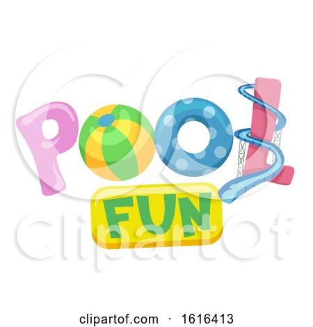 Pool Fun Lettering Illustration by BNP Design Studio