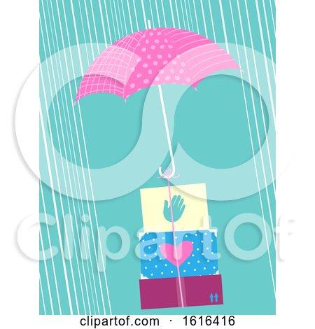Umbrella Box Relief Typhoon Illustration by BNP Design Studio