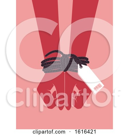 Hands Human Trafficking Awareness Illustration by BNP Design Studio