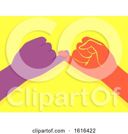Hands Pinky Promise Illustration by BNP Design Studio