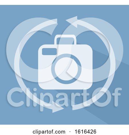 Camera 360 Icon Flat Illustration by BNP Design Studio