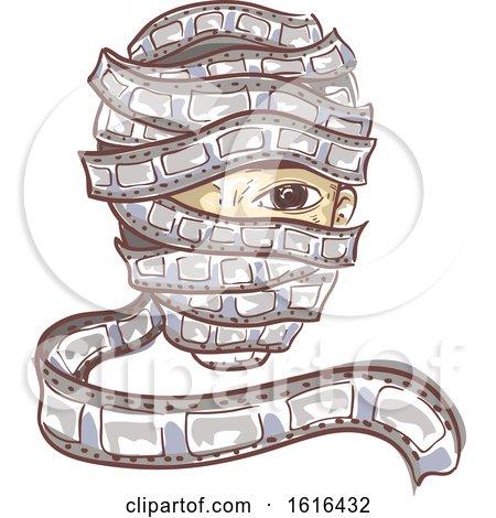 Film Reel Bind Person Illustration by BNP Design Studio