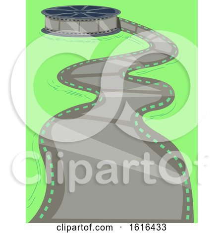 Film Reel Path Illustration by BNP Design Studio