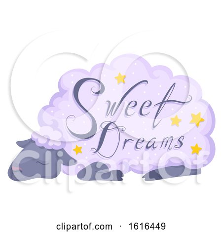 Sheep Sleep Sweet Dreams Illustration by BNP Design Studio