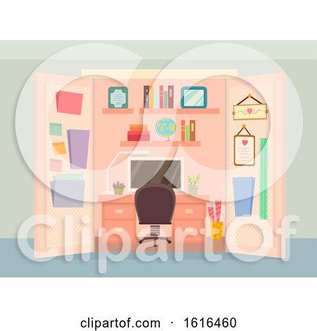 Office Closet Organize Interior Illustration by BNP Design Studio