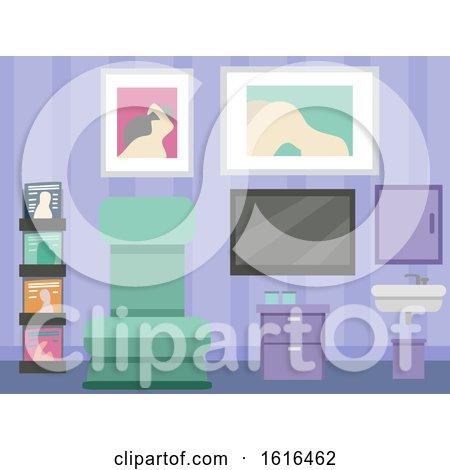 Sperm Donor Room Interior Illustration by BNP Design Studio