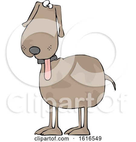 Clipart of a Cartoon Dog with His Tongue Hanging out - Royalty Free Vector Illustration by djart