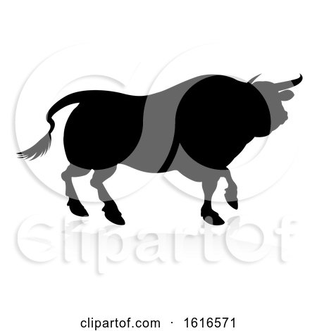 Bull Silhouette by AtStockIllustration