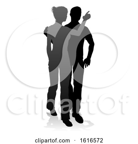 Young Couple People Silhouette by AtStockIllustration