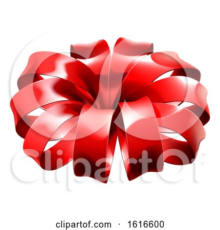 Red Christmas Bow by AtStockIllustration