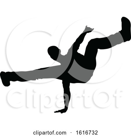 Break Dancer Silhouette by AtStockIllustration