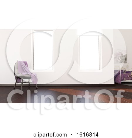 3D Contemporary Empty Room and Chair by KJ Pargeter