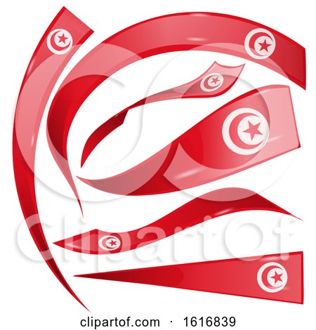 Clipart of Tunisia Flag Banners - Royalty Free Vector Illustration by Domenico Condello