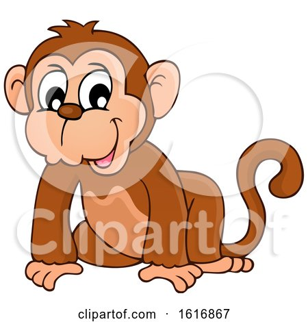 Clipart of a Monkey - Royalty Free Vector Illustration by visekart
