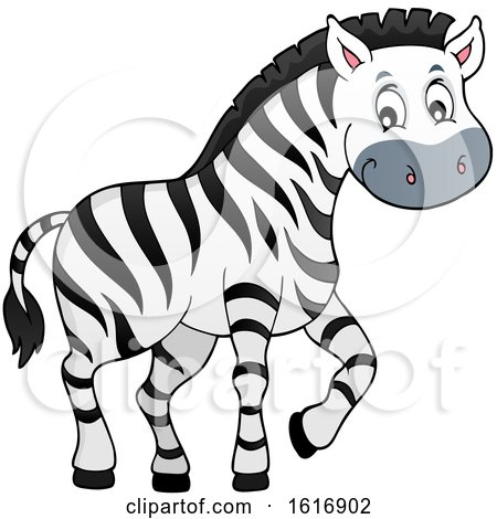 Clipart of a Cute Zebra - Royalty Free Vector Illustration by visekart