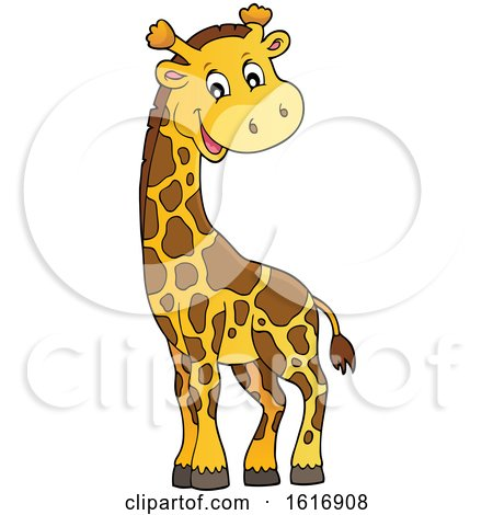 Clipart of a Happy Giraffe - Royalty Free Vector Illustration by visekart