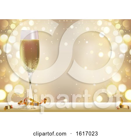 clipart of a new year background with a champagne glass royalty free vector illustration by dero