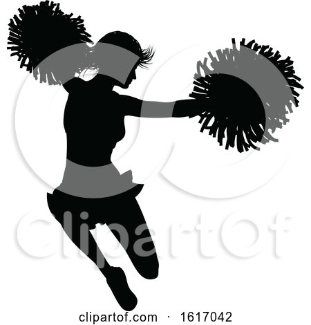 Cheerleader Silhouette by AtStockIllustration