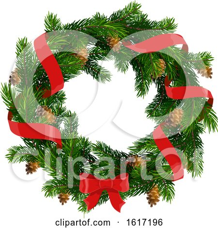 Christmas Wreath Design by Vector Tradition SM