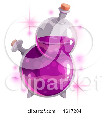 Magical Potion Spell Bottle by Vector Tradition SM