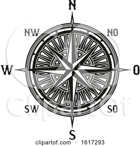Black and White Compass by Vector Tradition SM