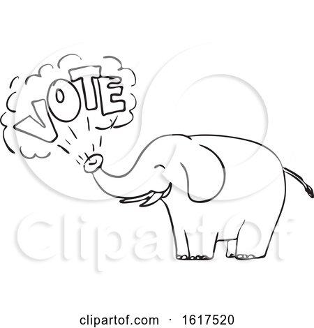White Elephant Vote Drawing by patrimonio