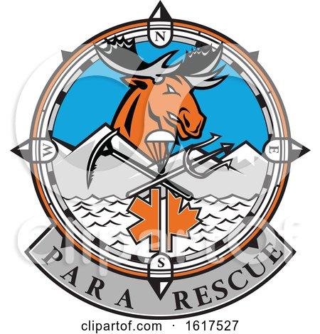 Para Rescue Moose Head Design by patrimonio