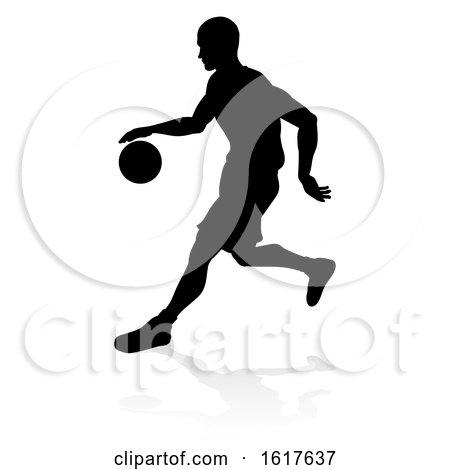 Basketballl Player Silhouette by AtStockIllustration