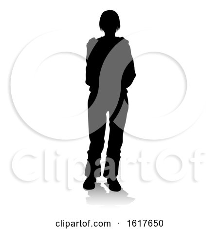 Young Person Silhouette by AtStockIllustration