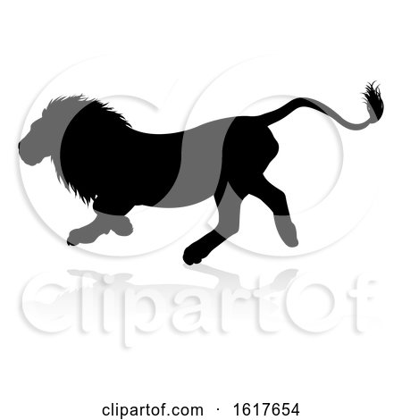 Lions Silhouette by AtStockIllustration
