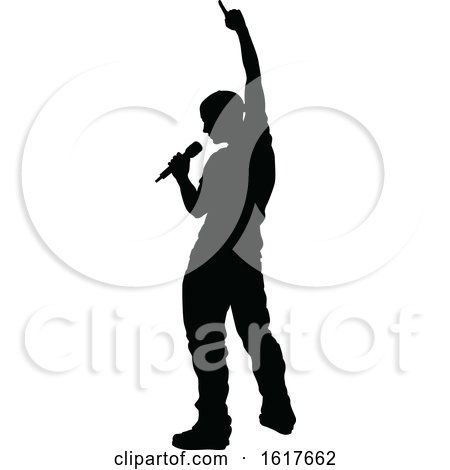 Singers Pop Country Rock Hiphop Star Silhouette by AtStockIllustration