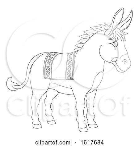 Donkey Animal Cartoon Character by AtStockIllustration