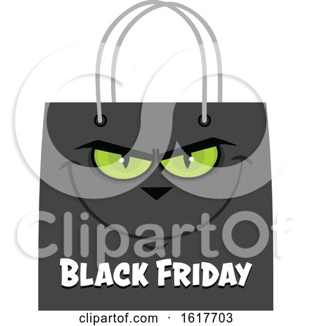 Black Friday Sale Shopping Bag Mascot by Hit Toon