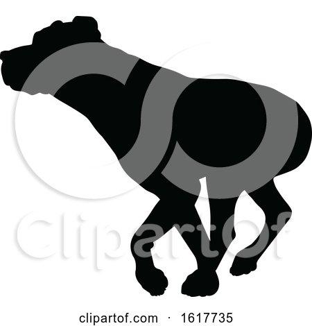 Dog Silhouette by AtStockIllustration
