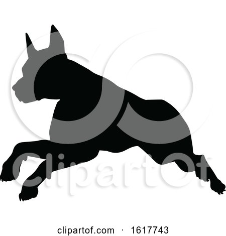 Dog Silhouette by AtStockIllustration