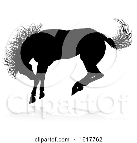 Horse Animal Silhouette, on a white background Posters, Art Prints