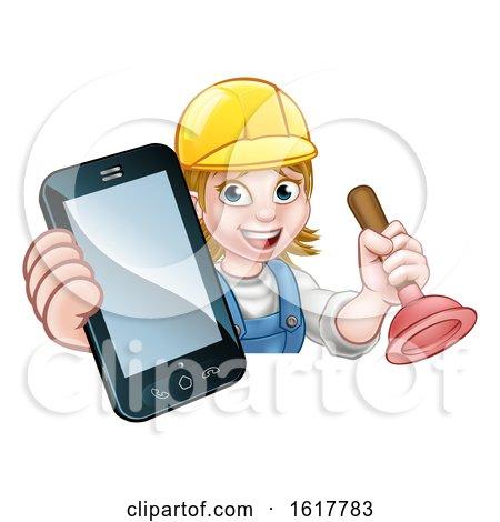 Plumber Handyman Phone Concept by AtStockIllustration