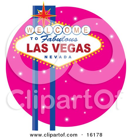 Welcome To Fabulous Las Vegas Nevada Sign Against A Pink Starry Night Posters, Art Prints