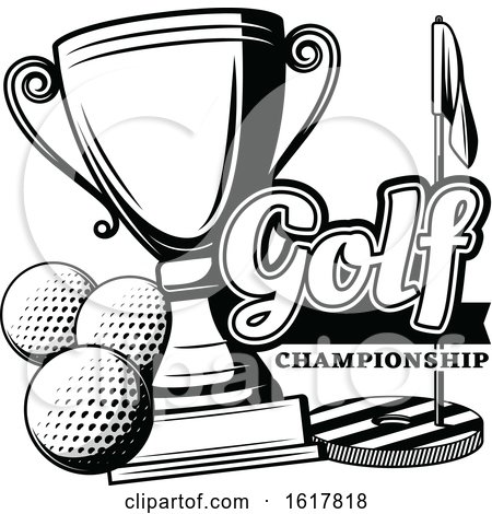 Black and White Golfing Design by Vector Tradition SM